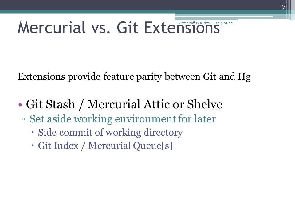 Hg History Structure Git Comparison File Storage File