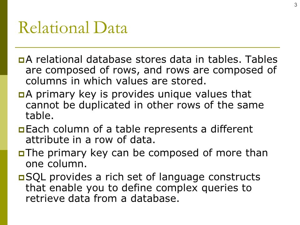 Database: SQL and MySQL - ppt video online download