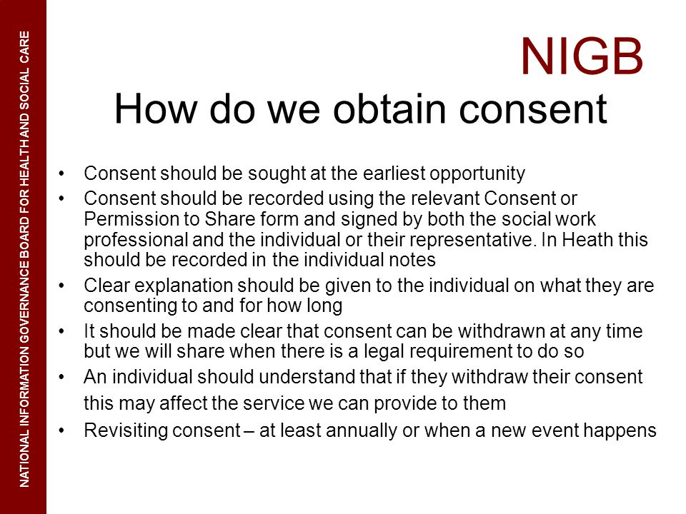 How do we obtain consent