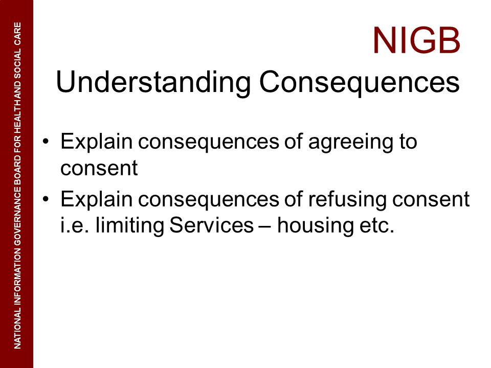 Understanding Consequences