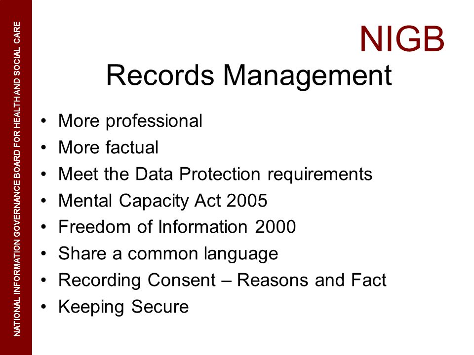 Records Management More professional More factual