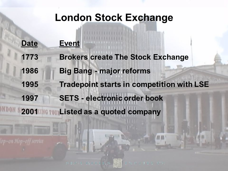London Stock Exchange Date Event