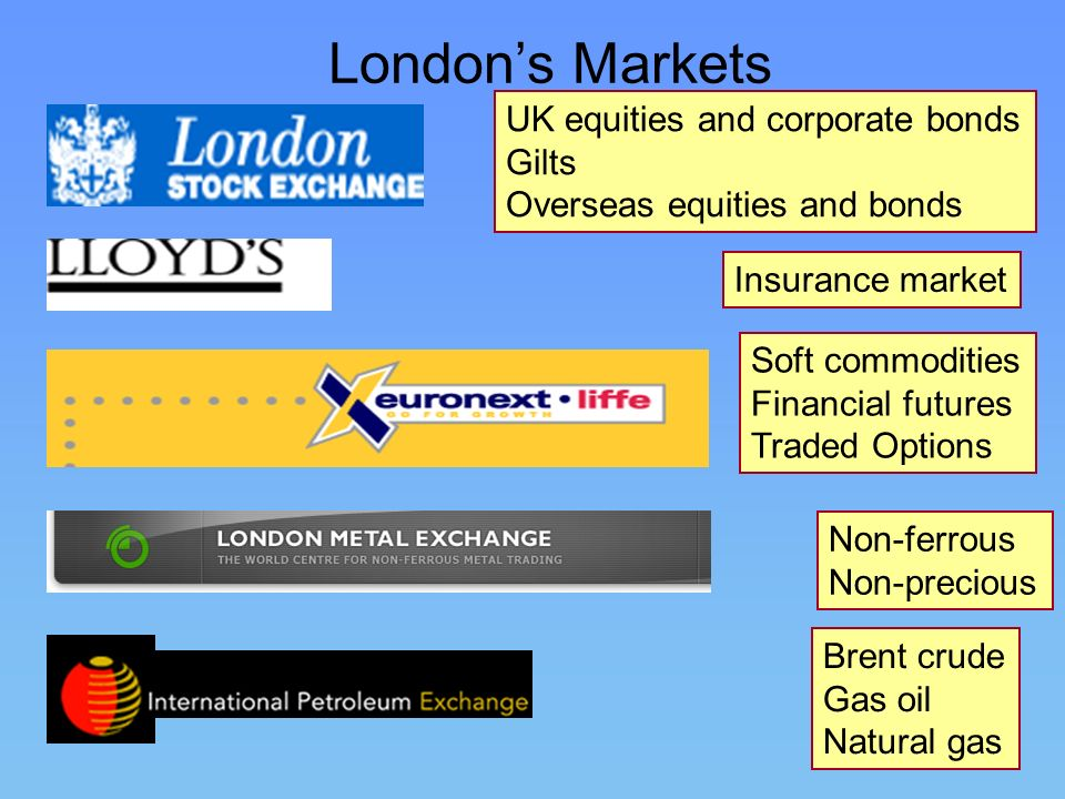 London's Markets UK equities and corporate bonds Gilts