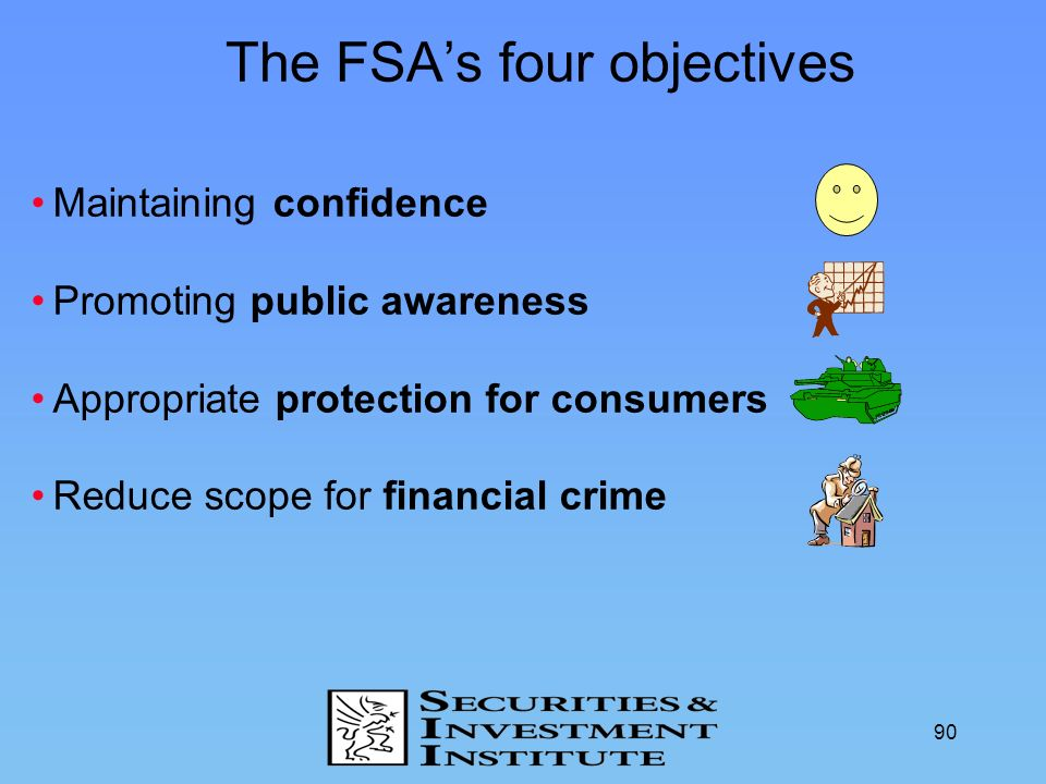The FSA's four objectives