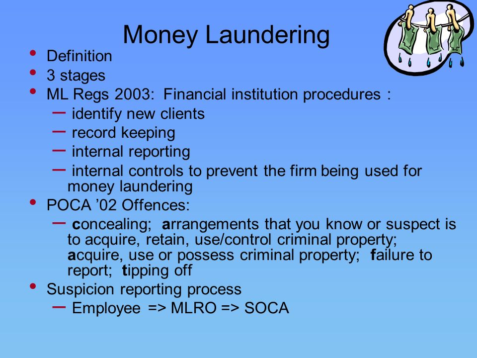 Money Laundering Definition 3 stages