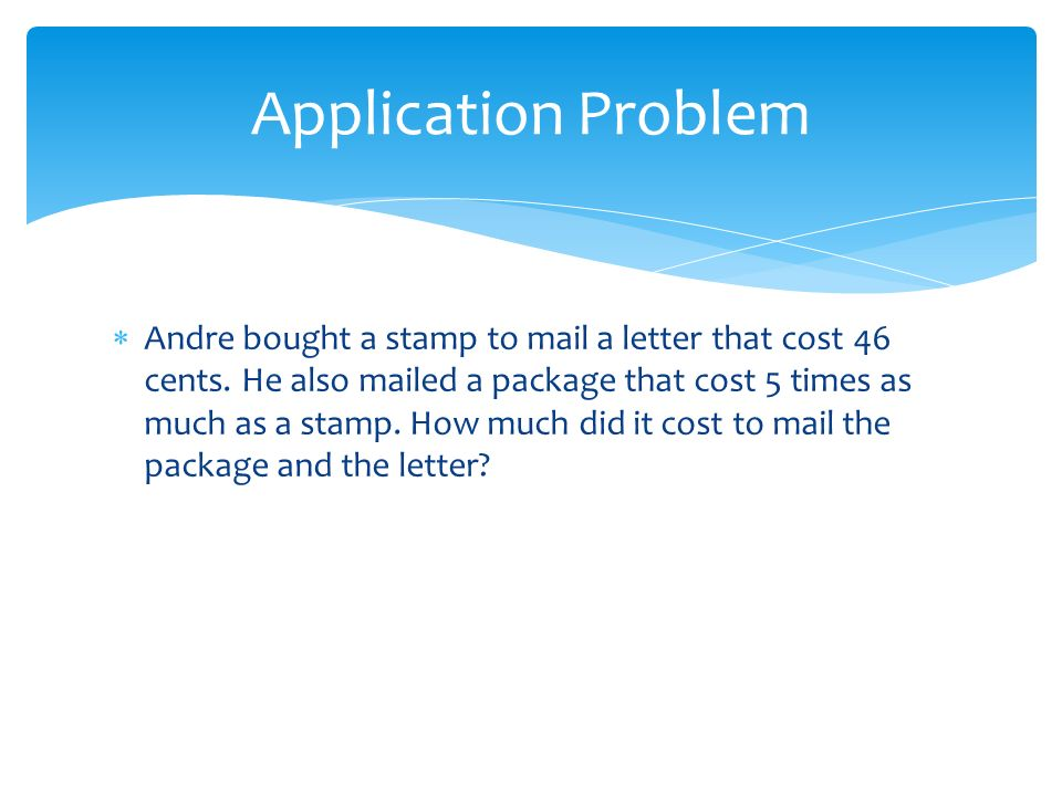 how much to mail a letter extend the use of place value disks to represent three 22214 | Application Problem