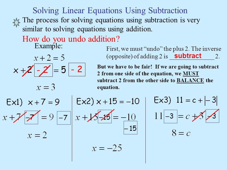Solving Linear Equations - ppt download