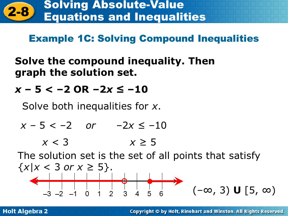 2 8 Solving Absolute Value Equations And Inequalities Warm Up Ppt