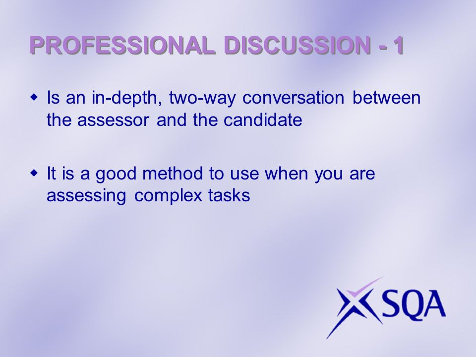 PROFESSIONAL DISCUSSION - 1