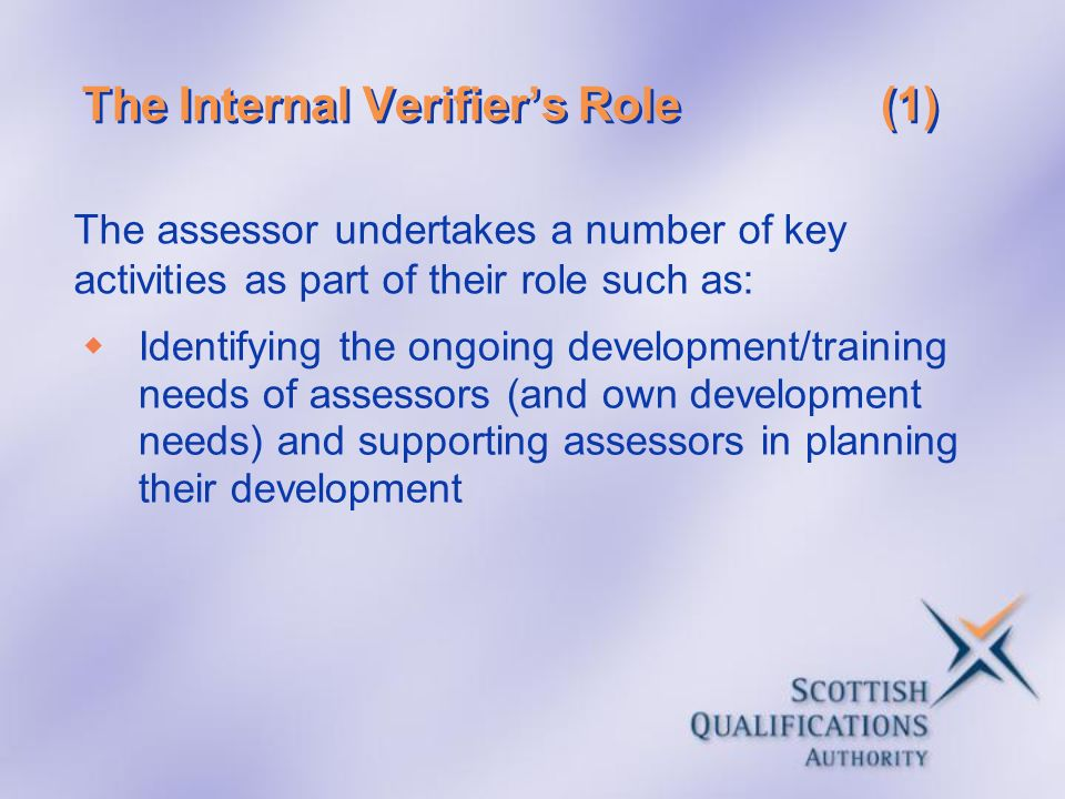 The Internal Verifier's Role (1)