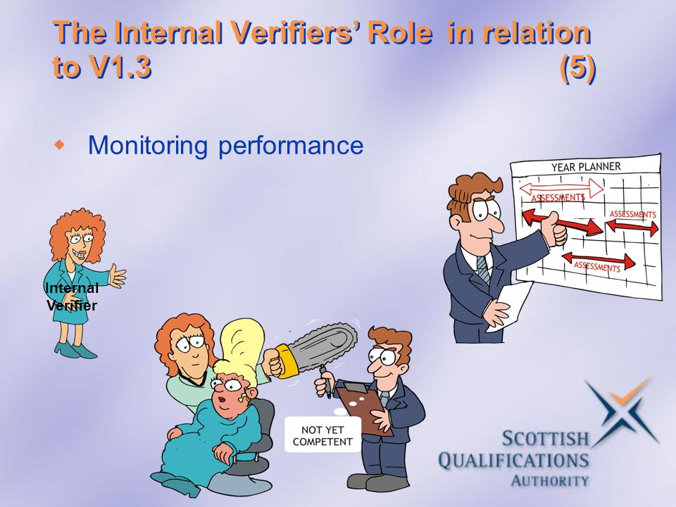 The Internal Verifiers' Role in relation to V1.3 (5)