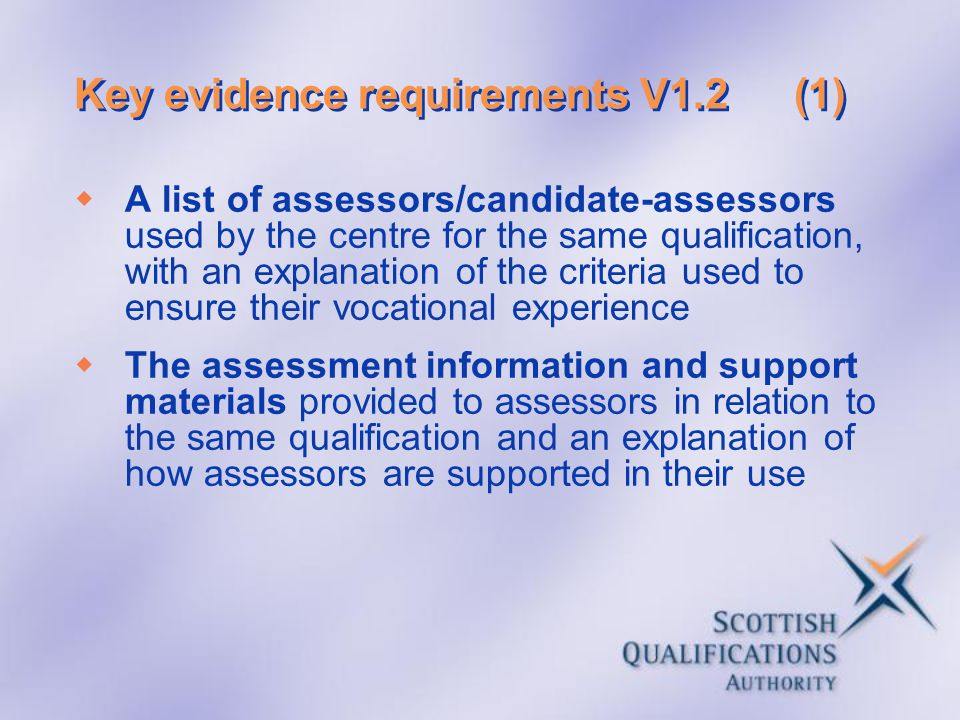 Key evidence requirements V1.2 (1)
