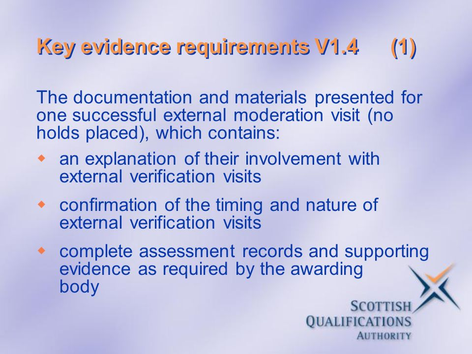 Key evidence requirements V1.4 (1)