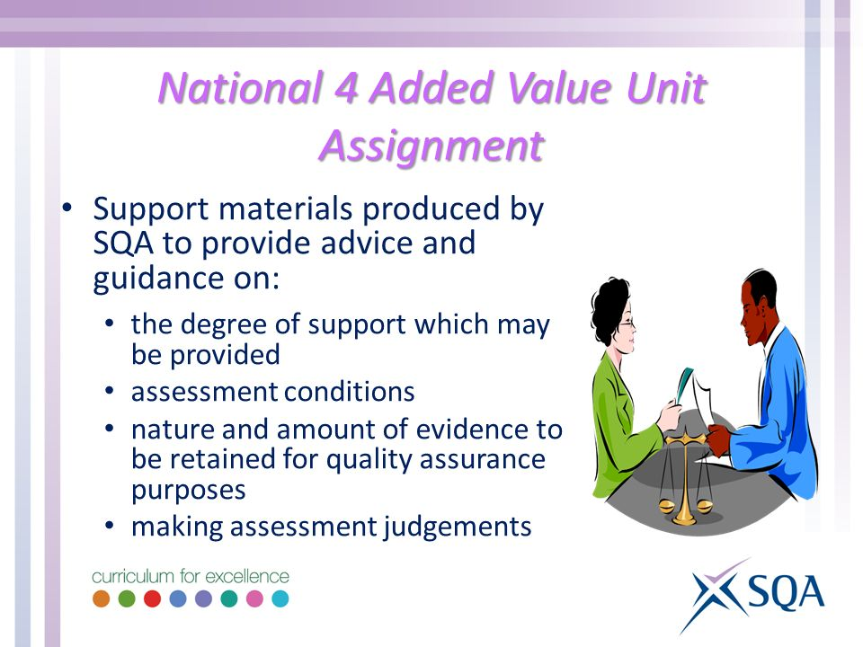 National 4 Added Value Unit Assignment