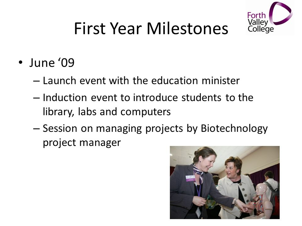 First Year Milestones June '09