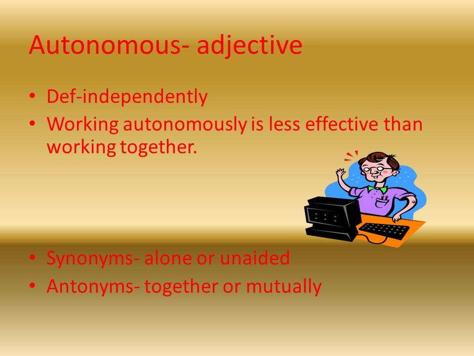 Yet another vocab powerpoint set6 ppt download 19 autonomous adjective m4hsunfo