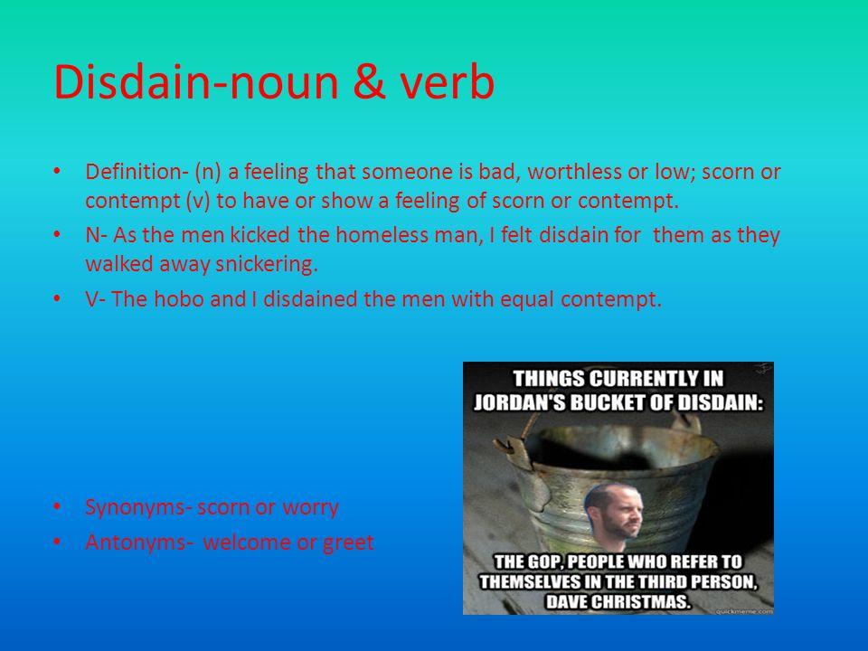 Yet another vocab powerpoint set6 ppt download 7 disdain noun m4hsunfo