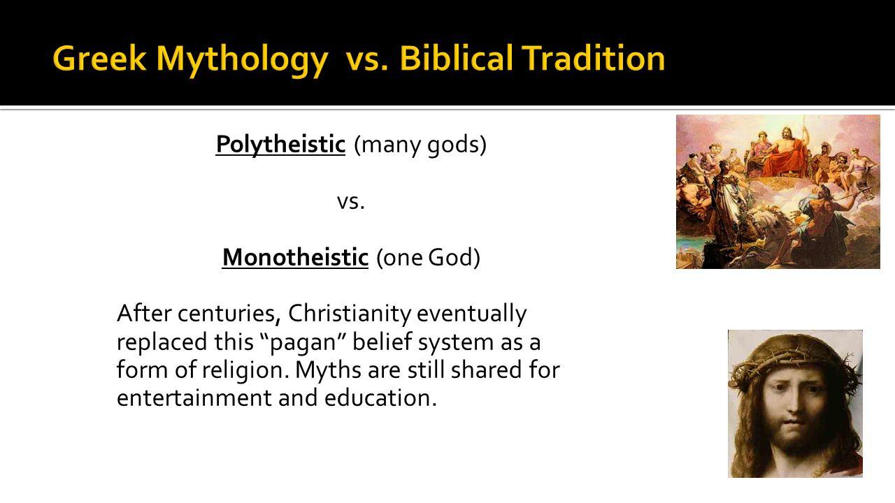 greek mythology vs bible
