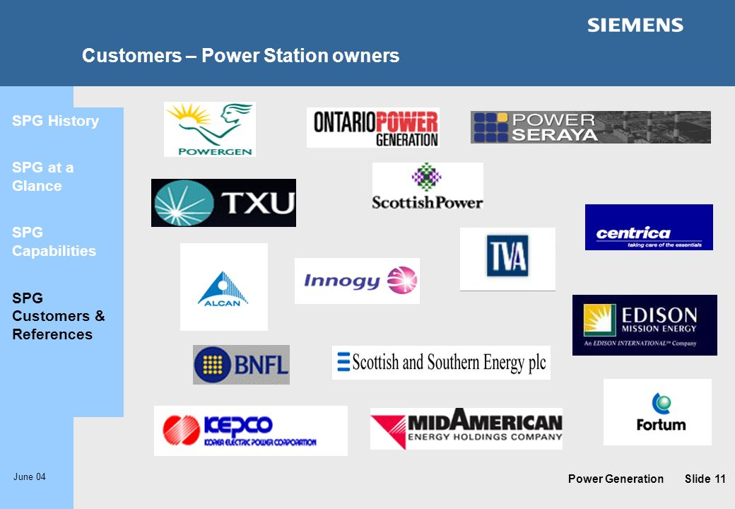 Customers – Power Station owners