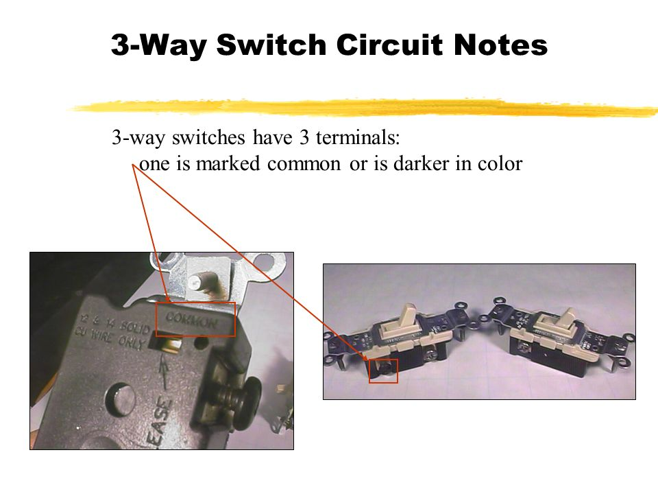 3-Way Switch Circuit Notes - ppt download