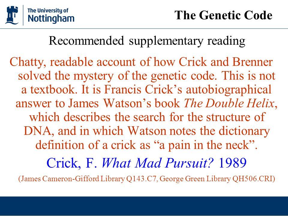 properties of genetic code ppt