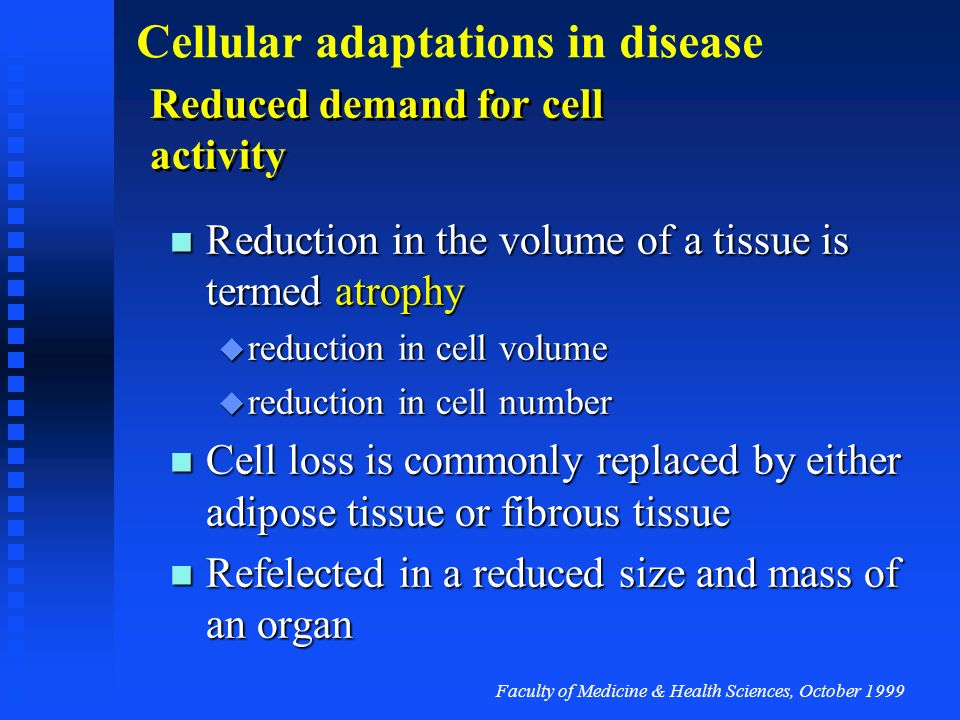 Reduced demand for cell activity