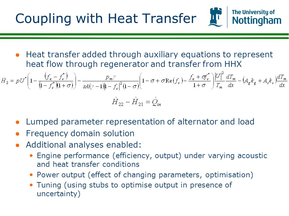 Coupling with Heat Transfer