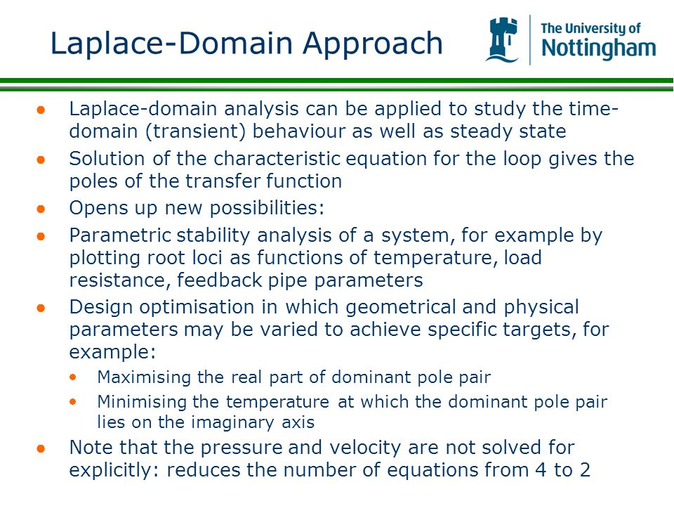 Laplace-Domain Approach