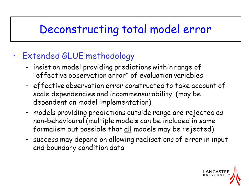 Deconstructing total model error