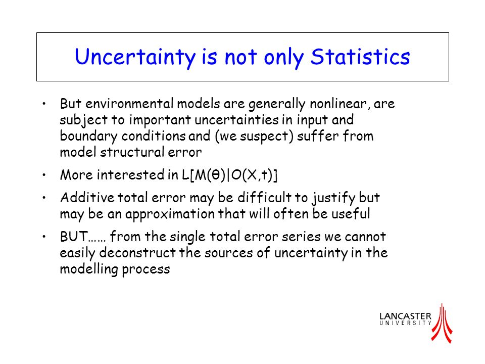 Uncertainty is not only Statistics