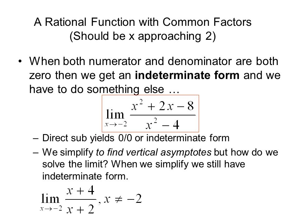 how to find limit when denominator is zero
