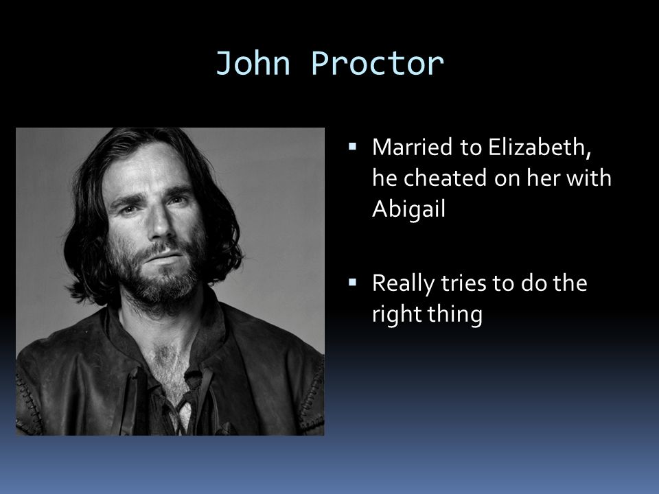 relationship between john proctor and elizabeth