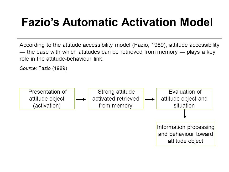 Fazio's Automatic Activation Model