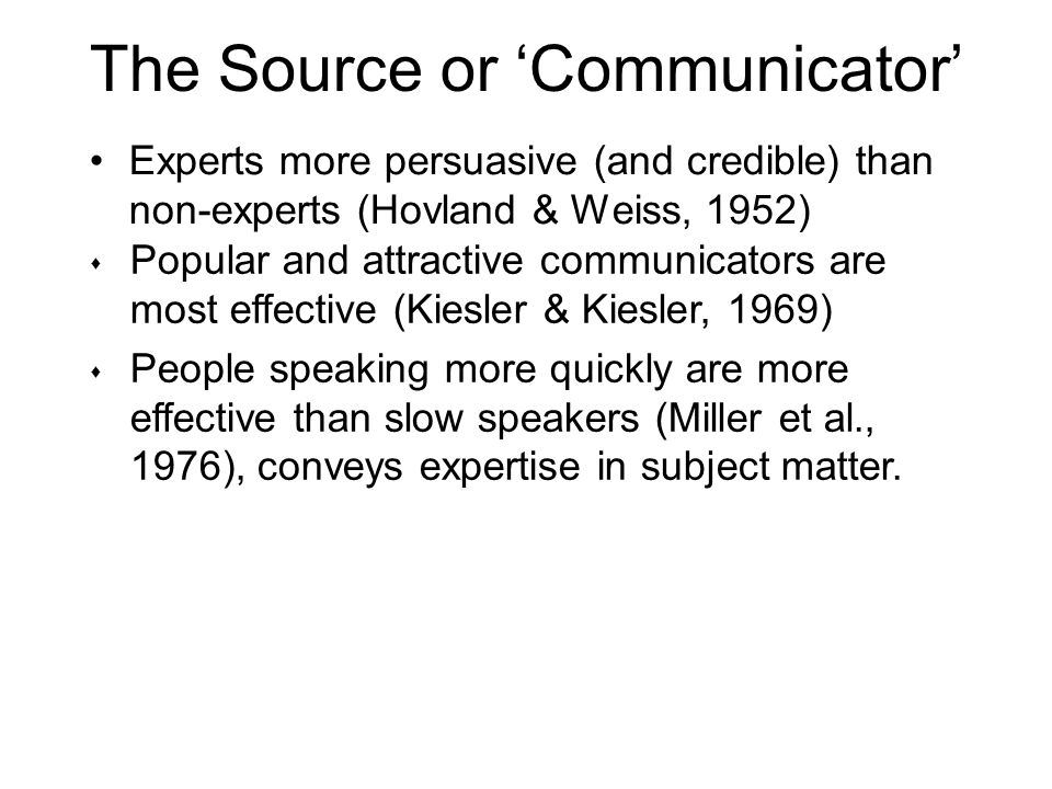 The Source or 'Communicator'