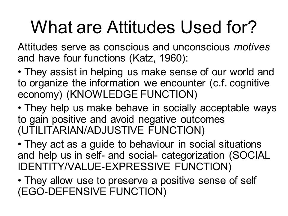 What are Attitudes Used for