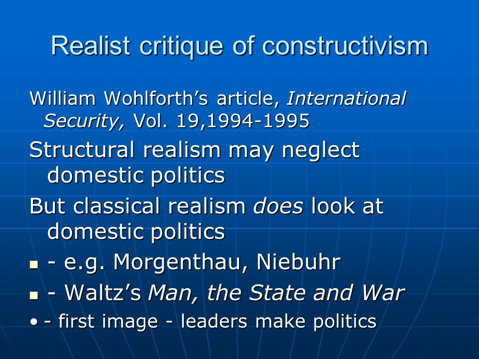 Realist critique of constructivism