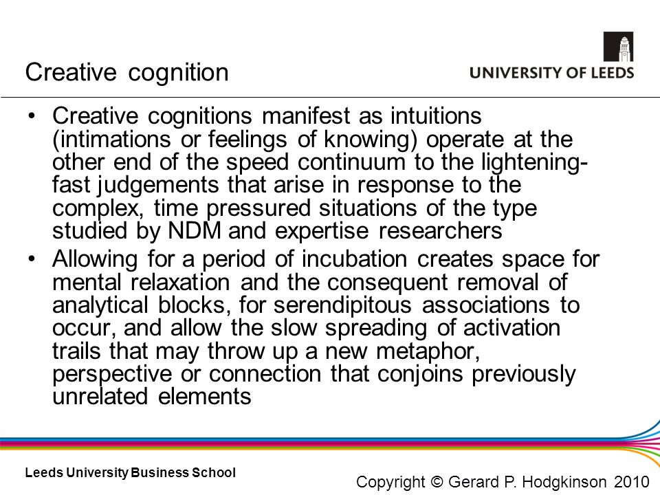 Creative cognition