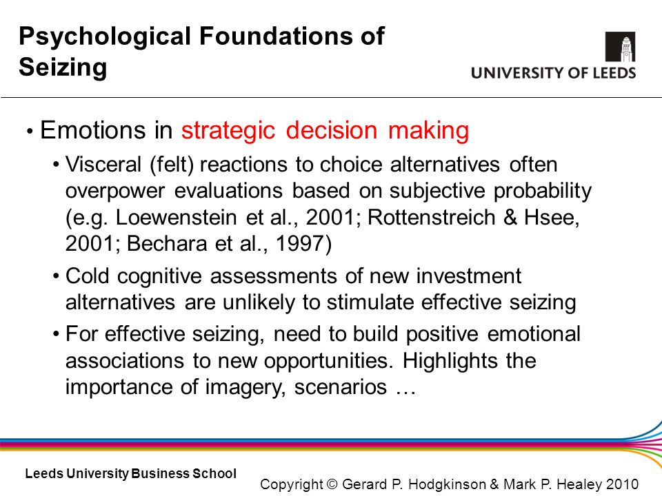 Psychological Foundations of Seizing
