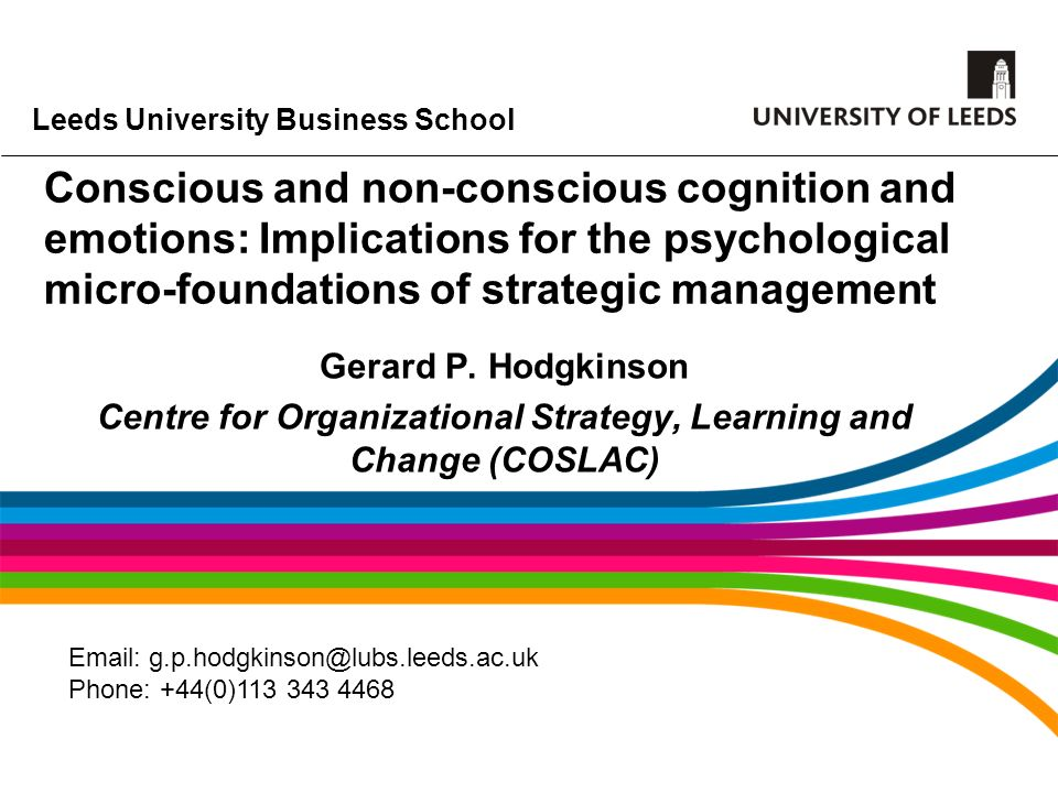 Centre for Organizational Strategy, Learning and Change (COSLAC)