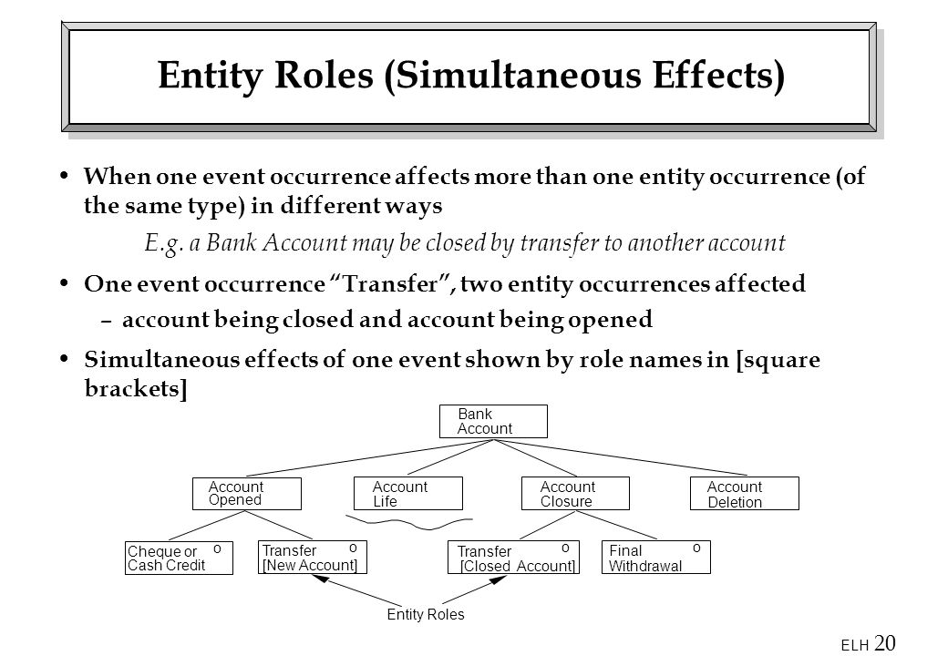 Entity Roles (Simultaneous Effects)
