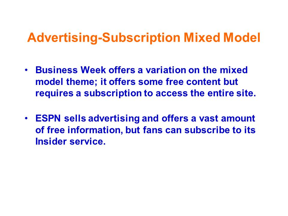 Advertising-Subscription Mixed Model