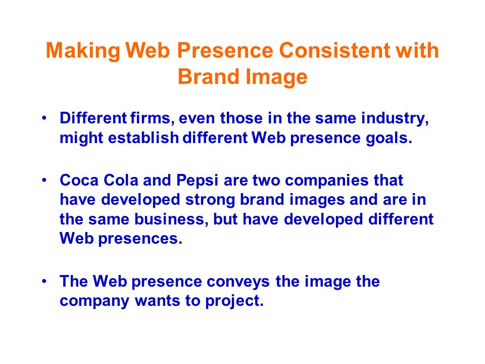 Making Web Presence Consistent with Brand Image
