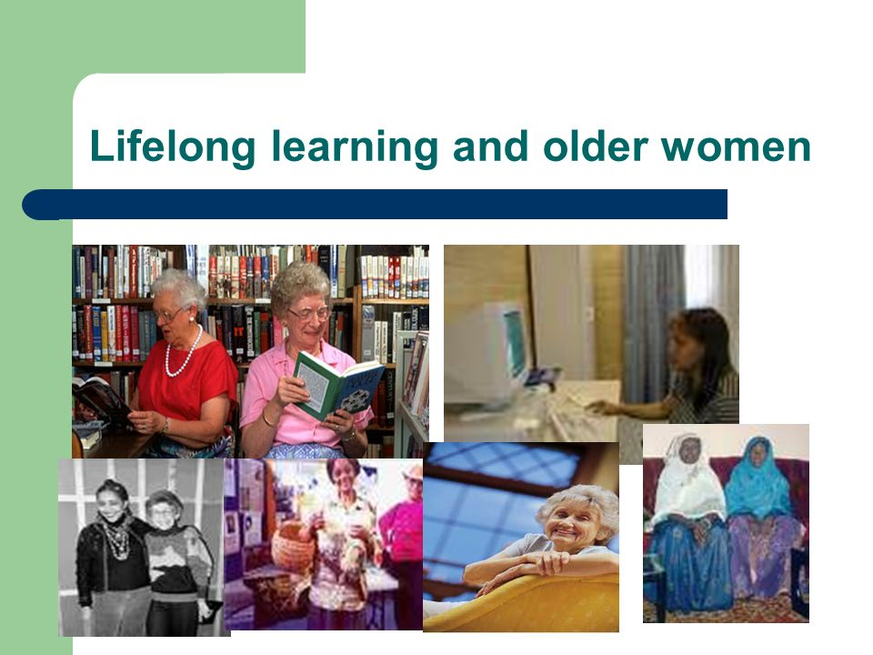 Lifelong learning and older women