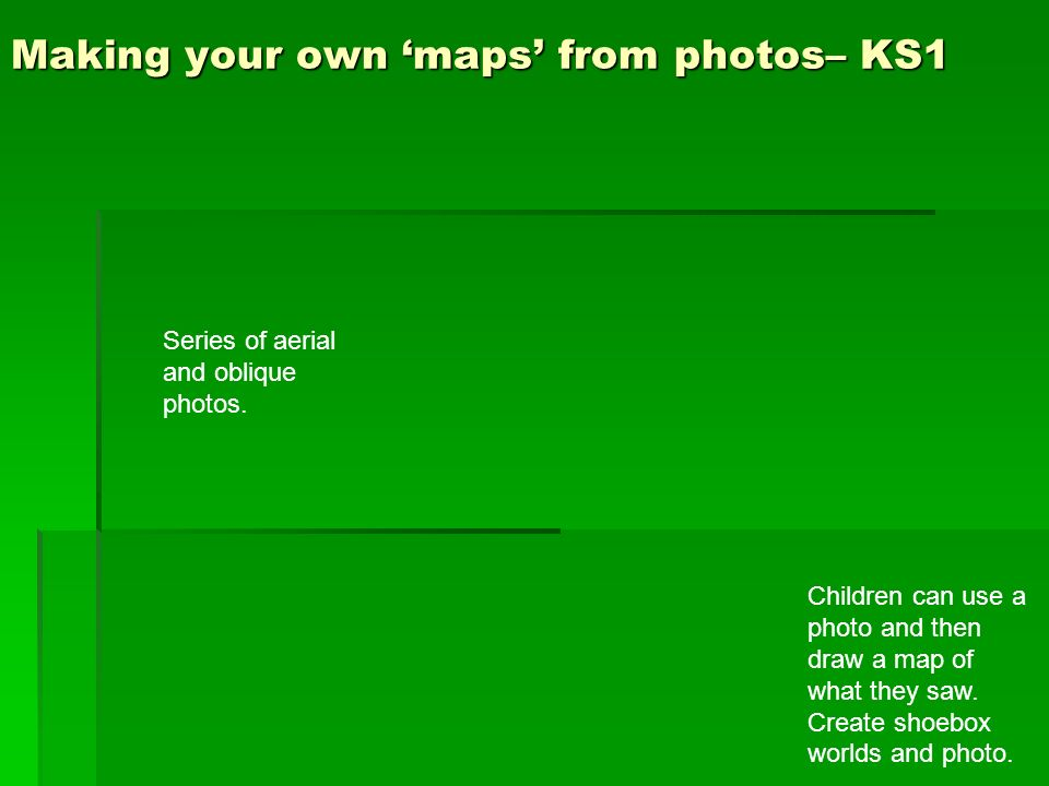 Making your own 'maps' from photos– KS1