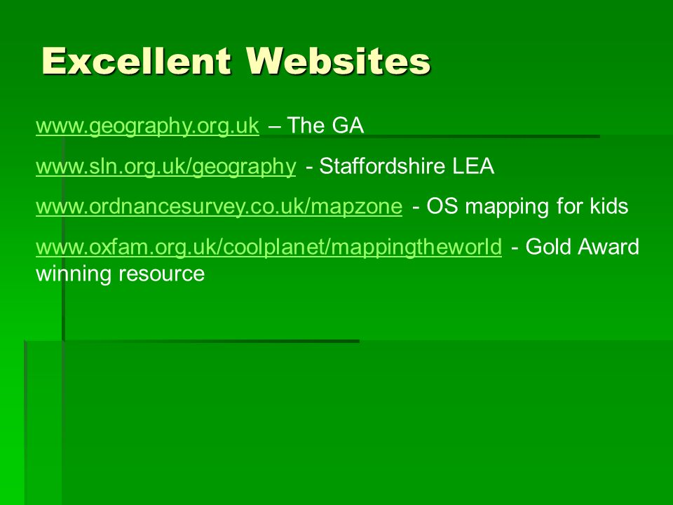 Excellent Websites www.geography.org.uk – The GA