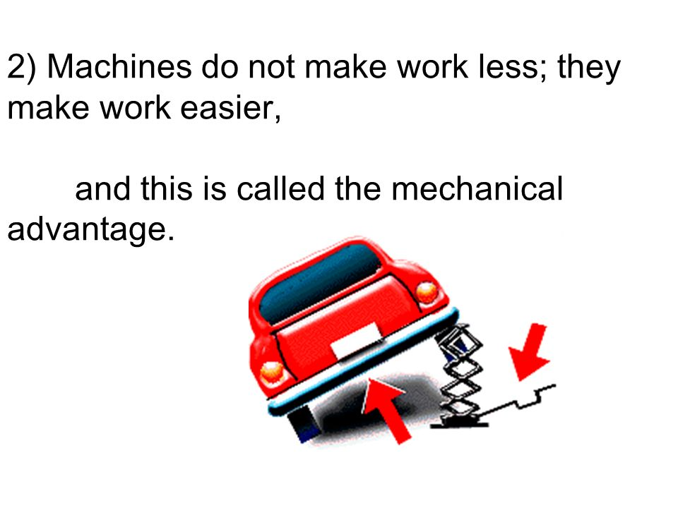 2) Machines do not make work less; they make work easier,