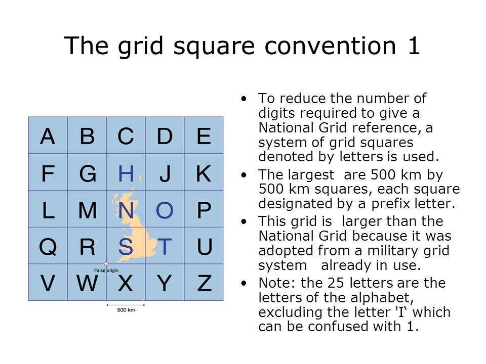 The grid square convention 1