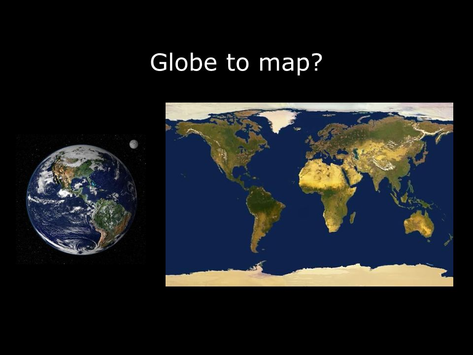 Globe to map