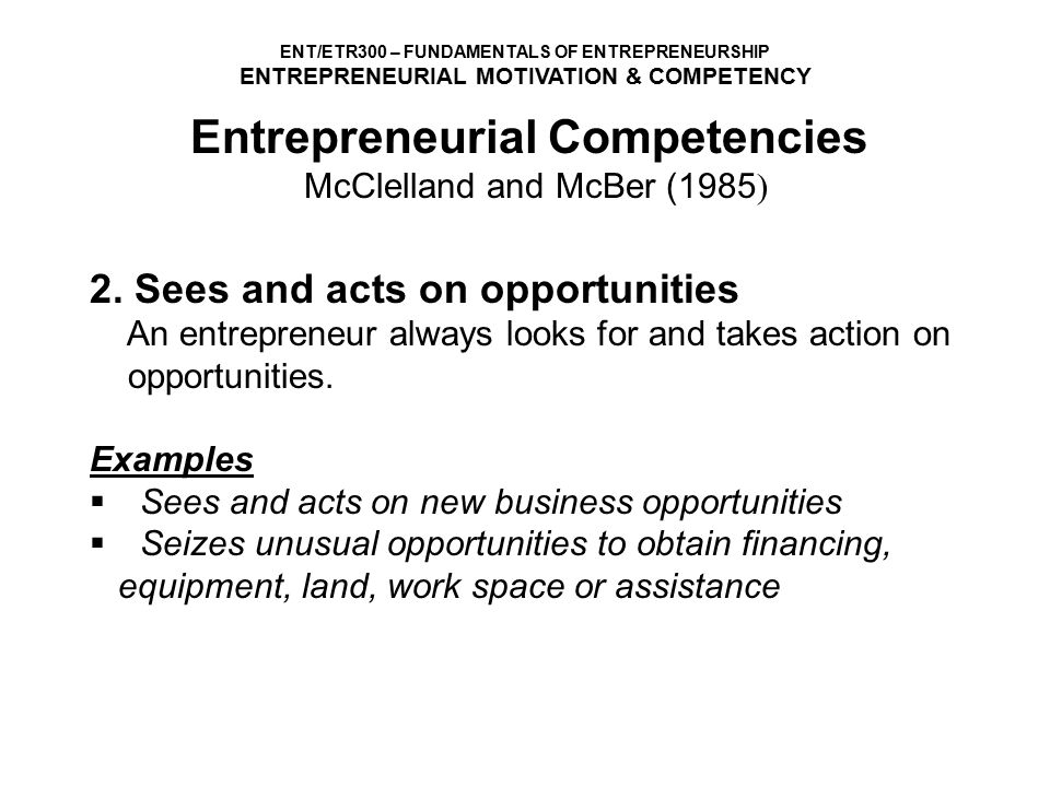 Entrepreneurial Motivation And Competencies Ppt Video Online Download