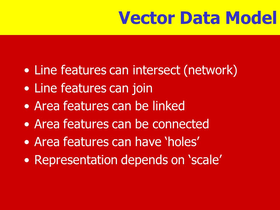 Vector Data Model Line features can intersect (network)